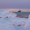 Ship Framed By Icebergs - Brown Bluff, Tabarin Peninsula,  Northern Antarctica