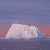 Sunset Reds Reflecting Off Solo Iceberg - Iceberg Alley , Hope Bay,  Antarctica Sound,  Antarctica