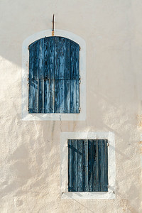 Blue Shutters in Provence, France