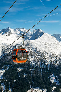 Cable Car Over Bad Gastein, Austria