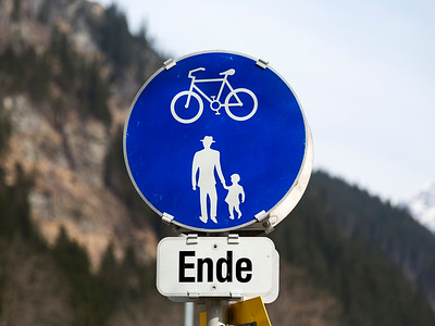 Ende - End of Bicycle Lane
