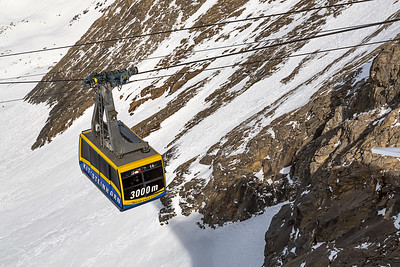 Cable Car On The Kitzsteinhorn, Kaprun, Austria