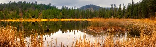 Pano Of Black Pine Lake - Methow Valley, Washington State
