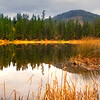 Pano Of Black Pine Lake - Methow Valley, Washington State