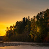 Sunset Explosion Along The River Banks Of Methow River - Methow Valley, Washington State