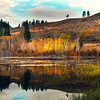 Autumn Vibrance Reflected In Pond - Methow Valley, Washington State