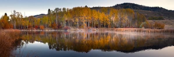 Panoramic View Of Pearrygin Lake - Methow Valley, Washington State