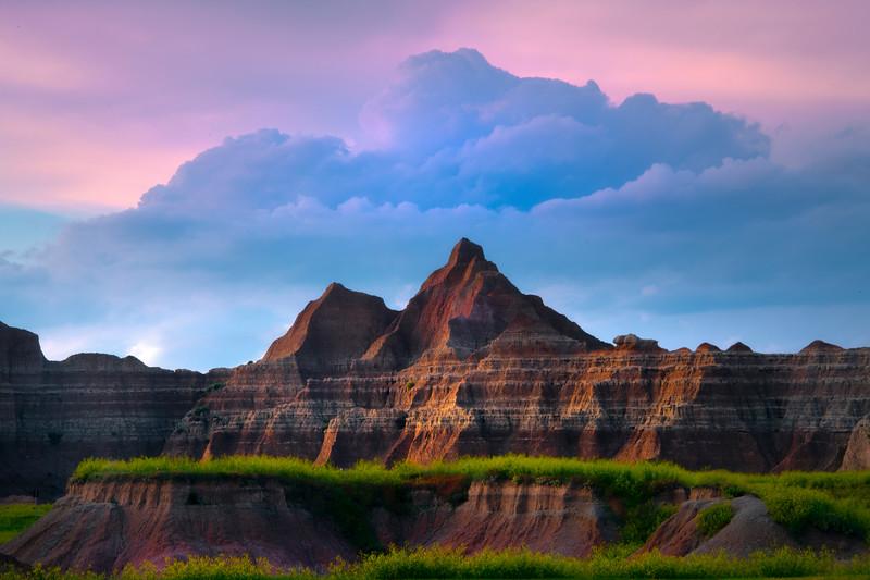 Plateau Levels Leading Into Peak - Badlands National Park, South Dakota