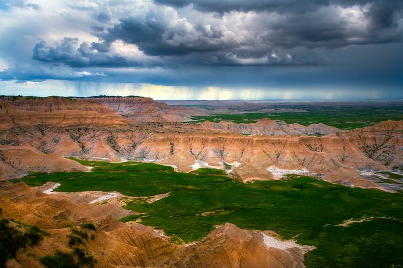Thunder Showers On The Overlook - Badlands National Park, South Dakota