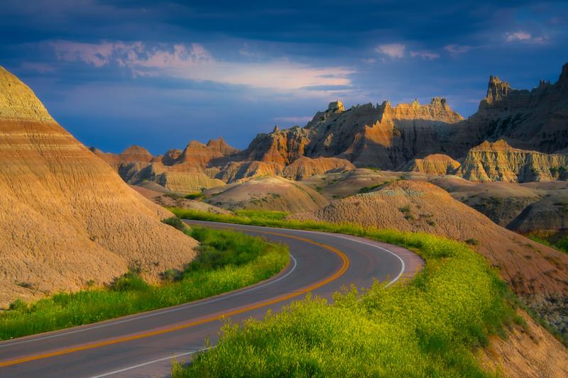 Rounding The Corner Into Badlands - Badlands National Park, South Dakota