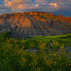 Sunset Clouds Settle Over The Badland Peaks - Badlands National Park, South Dakota