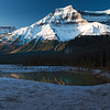 One of many crystal clear reflectionsfrom ponds along the Icefields Parkway