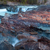 The unique geologic patterns of the Natural Bridge in Yoho National Park