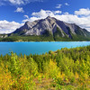 Just outside Banff National Park is the less known Abraham Lake
