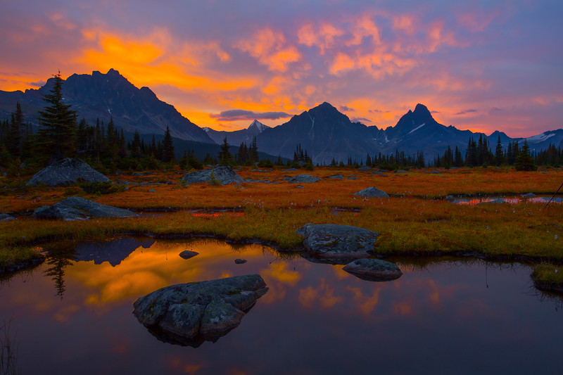 Sunset Reflections In Jasper Valley