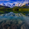 Stunning grandeur peaks of the Kananaskis country just outside Banff National Park