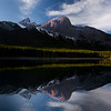 Stunning grandeur peaks of the Kananaskis country just outside Banff National Park