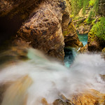 Gorgeous views of Johnstone canyon in Banff National Park