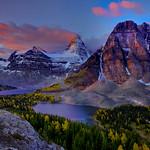 Mount Assiniboine peaks surrounding Lake Magog