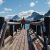 The popular Bow Lake along the Icefields Parkway is a great place to vist any time of the year