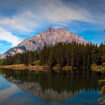 Johnsone Lake is just one of the many surrounding lakes in the Banff National Park