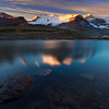Located along the Icefields Parkway is the Columbia Icefields with the Athabasca Glacier