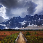 Located in the back country of Jasper National Park is the wall like peak of the Ramparts