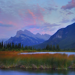 The iconic location of Mount Rundle found in Banff National Park just outside the town of Banff