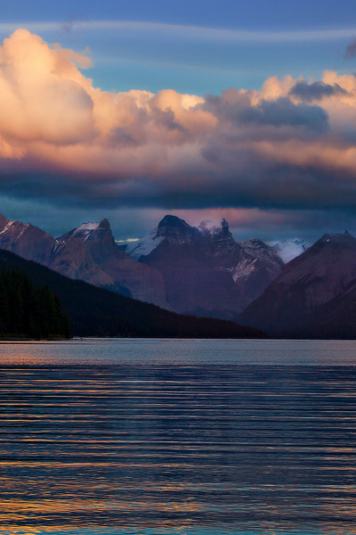 The amazing serene waters of Maligne Lake in Jasper National Park
