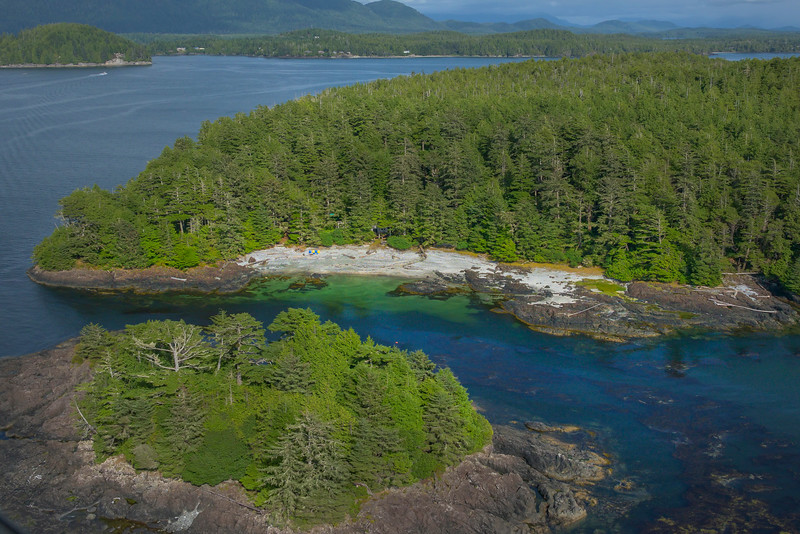 Outlet Islands Along The Coast Clayoquot Sound ,Tofino, and Ucluelet By Air,  Vancouver Island, BC, Canada