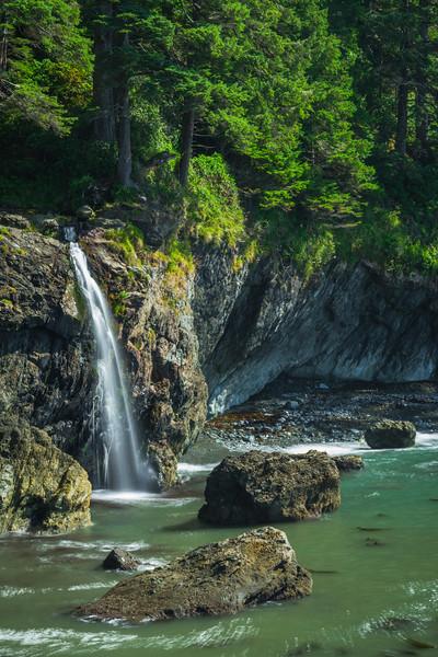 Hidden Waterfall At Sombrio Beach - Sombrio Beach, Vancouver Island, BC, Canada