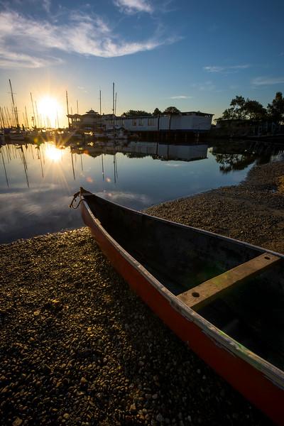 Oak Bay Marina At Canoe On Shore - Oak Bay Marina, Vancouver Island, BC, Canada
