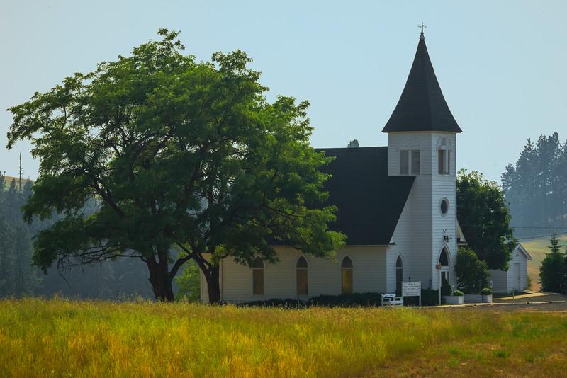 The Lone Church - Lutheran Church, Fort Spokane, Central WA