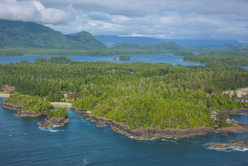 The Tofino Beaches From Air Clayoquot Sound ,Tofino, and Ucluelet By Air,  Vancouver Island, BC, Canada