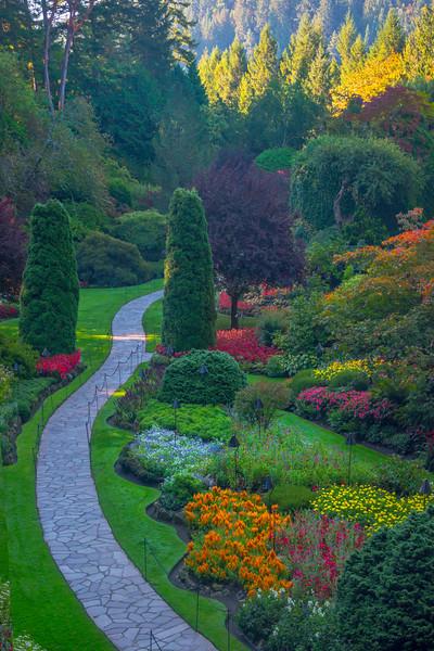 Pathway To Garden Heaven - Butchart Gardens, Victoria, Vancouver Island, BC, Canada