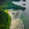 Endless Stretches Of Sand Along The Coast Clayoquot Sound ,Tofino, and Ucluelet By Air,  Vancouver Island, BC, Canada