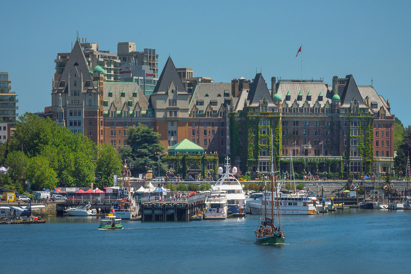 Empress Hotel And Victoria Harbor - Victoria Harbor, BC, Canada