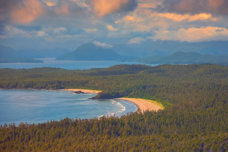 One Of The Many Beaches In The Clayoquot Sound Wildnerness Clayoquot Sound ,Tofino, and Ucluelet By Air,  Vancouver Island, BC, Canada
