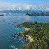 Looking Out Into The Chain Of Islands Clayoquot Sound ,Tofino, and Ucluelet By Air,  Vancouver Island, BC, Canada