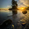 Botany Bay Shoreline Sunset- Botany Bay, Botanical Beach, Vancouver Island, BC, Canada