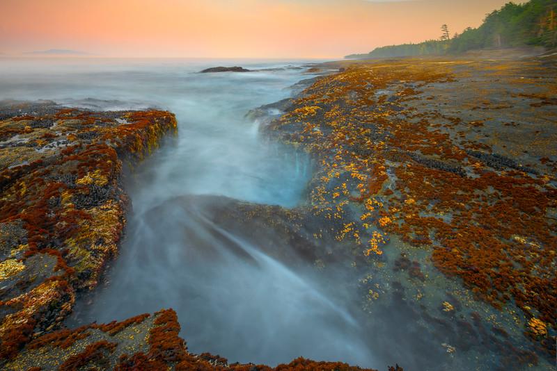 The Cauldron Along The Coastline Payment Creek, Parkinson Trailhead, Juan De Fuca,  Vancouver Island, BC, Canada