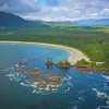 The Endless Beaches Along Vancouver Island Clayoquot Sound ,Tofino, and Ucluelet By Air,  Vancouver Island, BC, Canada