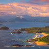 Sunset Sets On The Beaches Of Vancouver Island Clayoquot Sound ,Tofino, and Ucluelet By Air,  Vancouver Island, BC, Canada