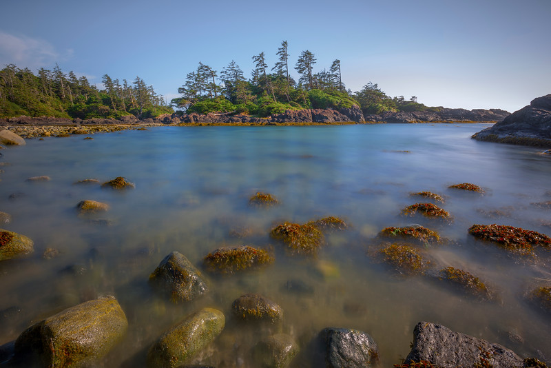 Long Exposure On Haystack Island Pacific Rim National Park Reserve, Vancouver Island, BC,  Canada