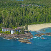 Wickaninnish Inn And Surrounding Beaches Clayoquot Sound ,Tofino, and Ucluelet By Air,  Vancouver Island, BC, Canada