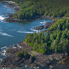 Rock Outcrops Along The Islands Clayoquot Sound ,Tofino, and Ucluelet By Air,  Vancouver Island, BC, Canada