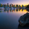Coal Harbour At Twilight Dusk - Stanley Park Seawall, Vancouver, BC, Canada