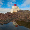 Amphitrite Lighthouse In Pool Reflection.jpg Pacific Rim National Park, Ucluelet, Vancouver Island, BC, Canada