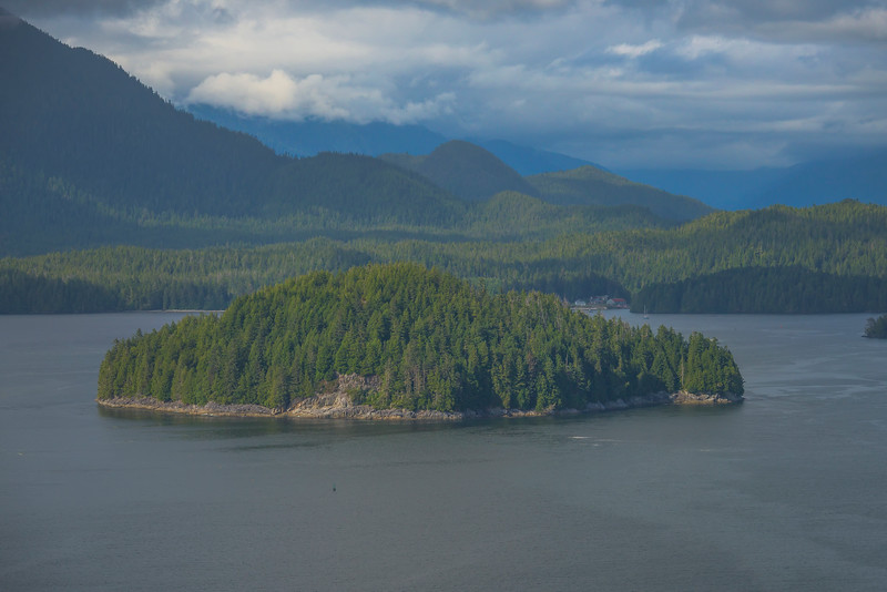 One Of The Many Islands In The Clayoquot Sound Clayoquot Sound ,Tofino, and Ucluelet By Air,  Vancouver Island, BC, Canada