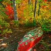 Autumn Canoe Activity Along The Stunning Lake